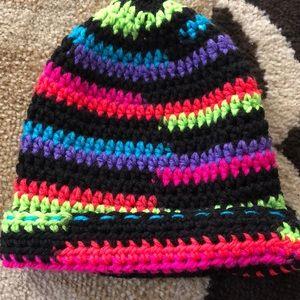 Handmade multicolored crochet  toddler hat
